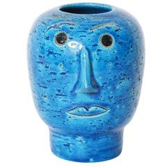 Aldo Londi Head Vase for Bitossi Studio, Italian, 1960s