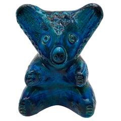 Aldo Londi Koala Bear in Ceramic Glazed Deep Rimini Blue, 1965