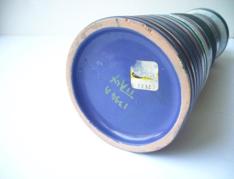 Modern Aldo Londi Large Ceramic/Pottery Vase for Bitossi Sold by Raymor For Sale