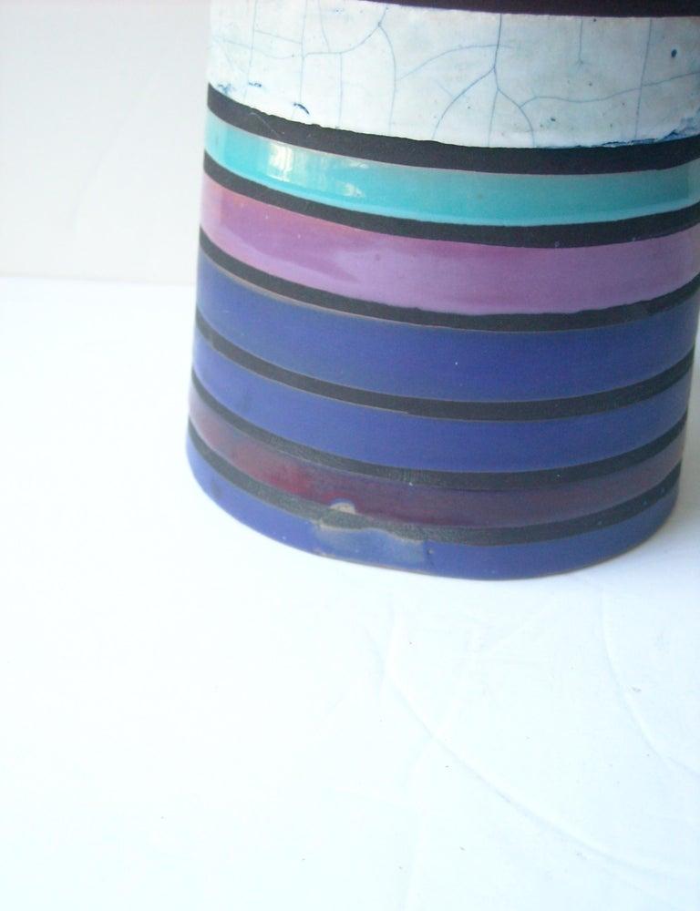 Italian Aldo Londi Large Ceramic/Pottery Vase for Bitossi Sold by Raymor For Sale