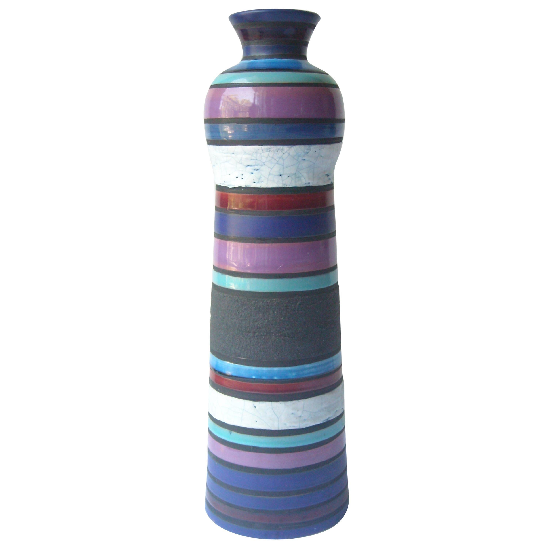 Aldo Londi Large Ceramic/Pottery Vase for Bitossi Sold by Raymor