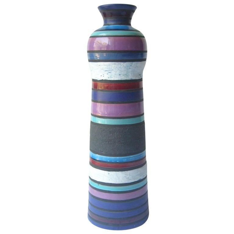 Aldo Londi Large Ceramic/Pottery Vase for Bitossi Sold by Raymor For Sale