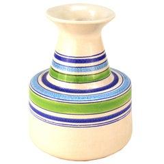 Aldo Londi Mid-Century Modern Raymor for Bitossi Rosenthal Netter Ceramic Vase
