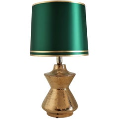 Aldo Londi Organic Bitossi Table Lamp in Metallic Gold Ceramic, 1960s, Italy