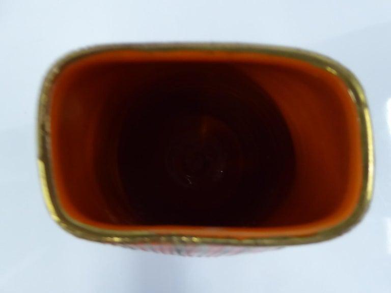 Aldo Londi Seta Series for Bitossi Modern Sgraffito Ceramic Vase, Italy, 1950s In Good Condition For Sale In Miami, FL