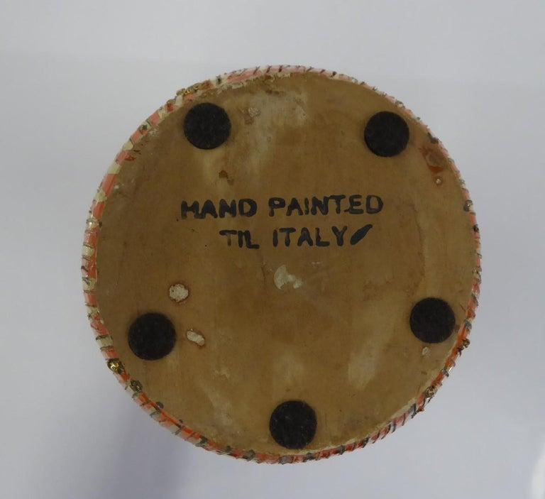 Mid-20th Century Aldo Londi Seta Series for Bitossi Modern Sgraffito Ceramic Vase, Italy, 1950s For Sale