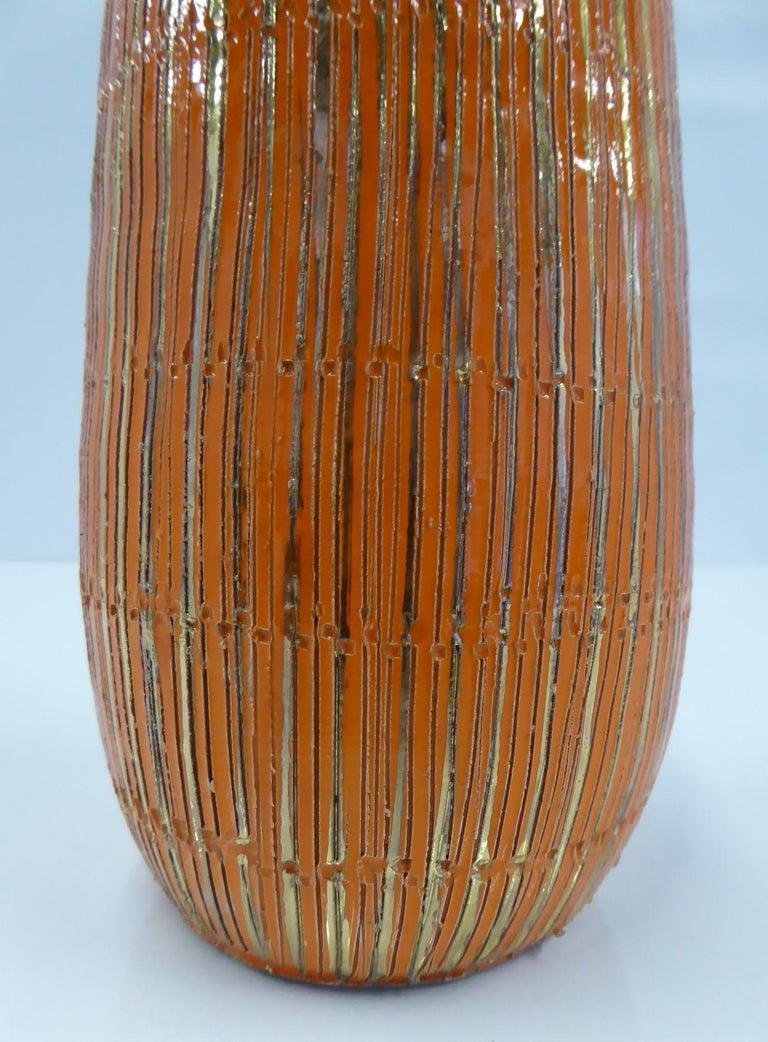Aldo Londi Seta Series for Bitossi Modern Sgraffito Ceramic Vase, Italy, 1950s For Sale 1