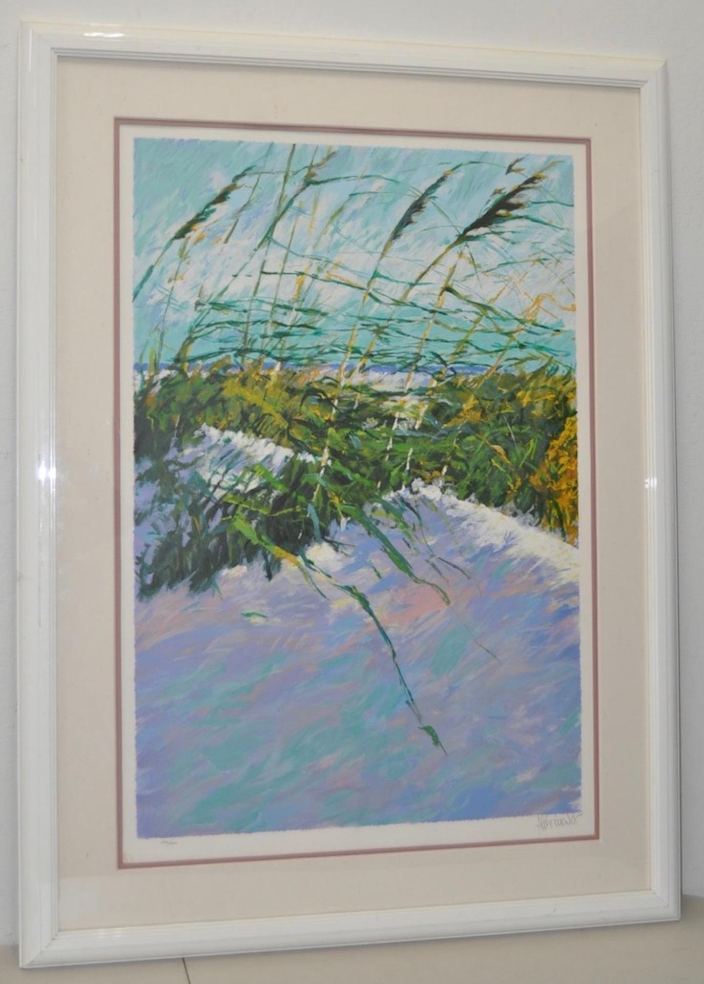 "Aldo Luongo ""Windy Beach II"" Serigraph c.1990 Signed / Numbered"