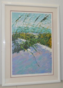 "Aldo Luongo ""Windy Beach II"" Serigraph c.1990 Signed / Numbered"