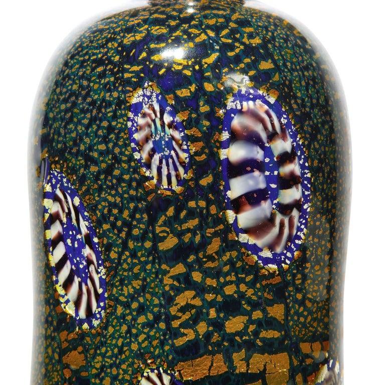 Italian Aldo Nason Vase with Gold Foil and Murrhines, 1960s For Sale