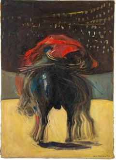 Bullfight - Original Oil on Canvas by Aldo Pagliacci - 1958