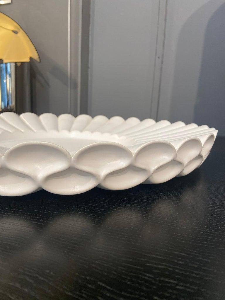 Post-Modern Aldo Rontini, White Ceramic Tray, 2000 For Sale