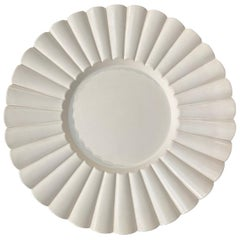 Aldo Rontini, White Ceramic Tray, 2000