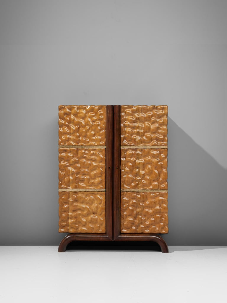 Aldo Tura Bar Cabinet in Cherry For Sale at 1stdibs