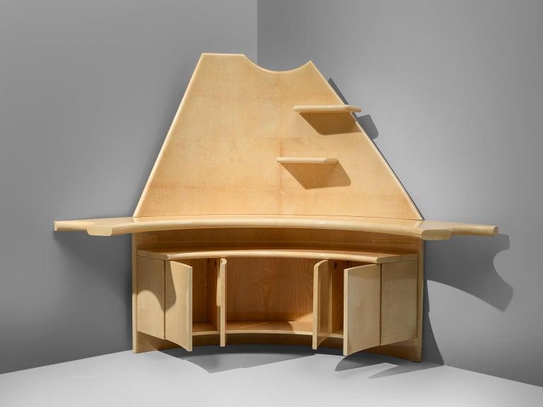 Aldo Tura Bar Cabinet in Goatskin For Sale at 1stdibs