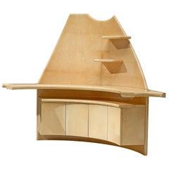 Mid-Century Modern Corner Cupboards