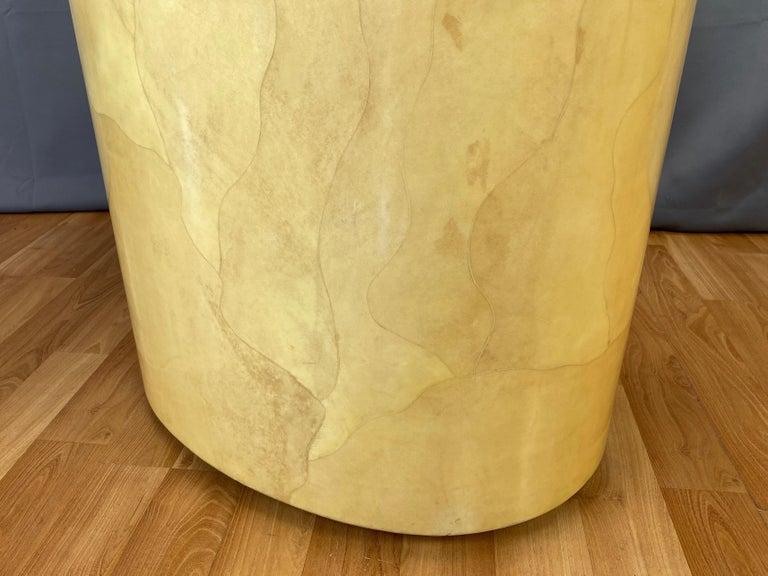 Aldo Tura Egg-Shaped Goatskin Side Table, Late 1960s For Sale 4