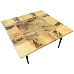 Aldo Tura Goat Skin Coffee Table