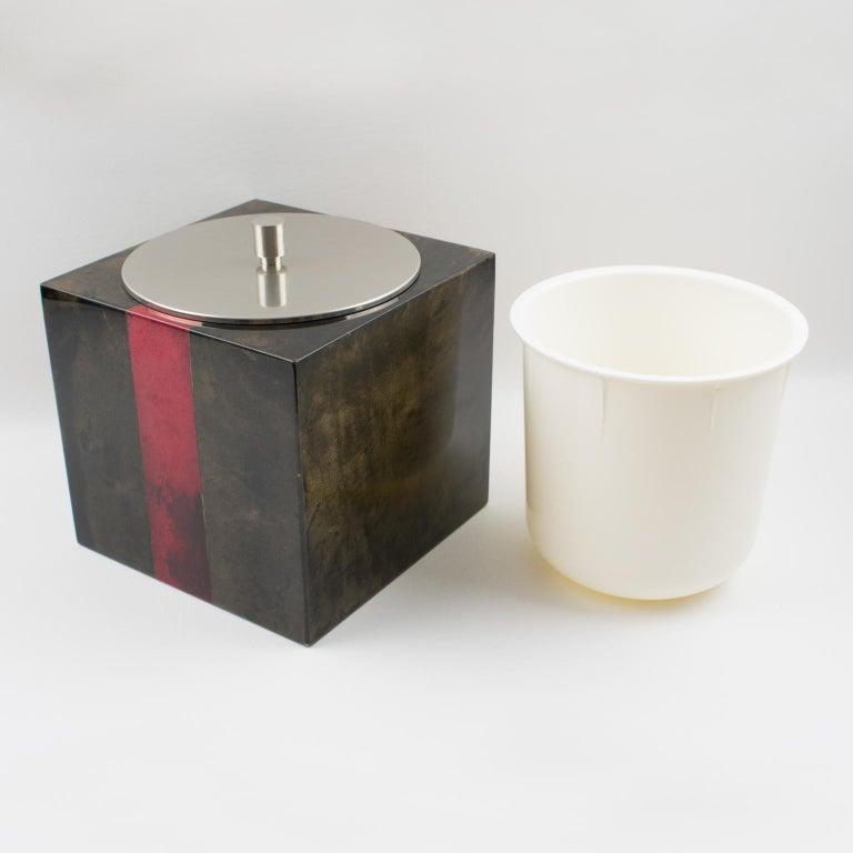 Aldo Tura Goatskin Ice Bucket For Sale 1