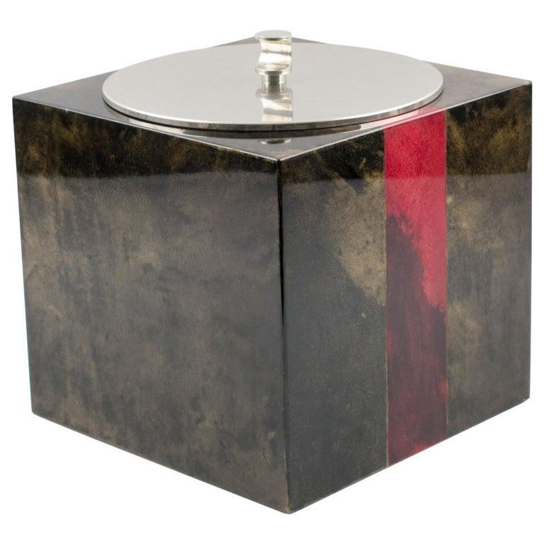 Aldo Tura Goatskin Ice Bucket For Sale