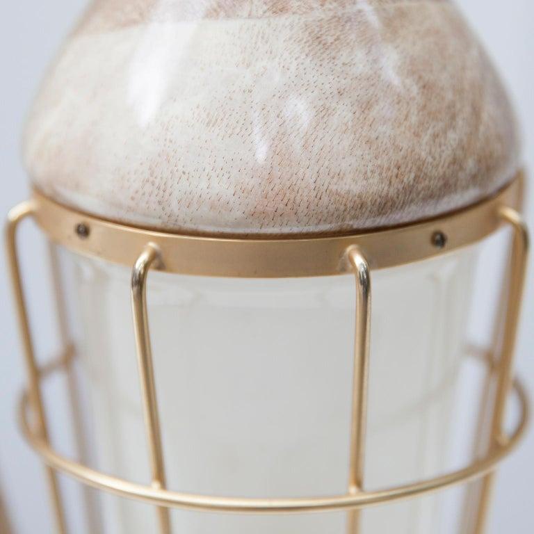 1960s Aldo Tura Goatskin Swan Table Lamp, Italy, 1960 For Sale