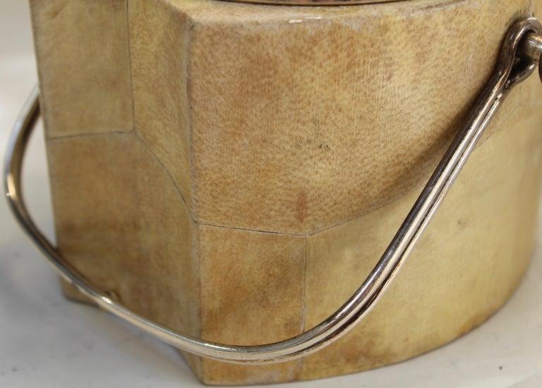 Aldo Tura Goatskin Veneered Thermos and Ice Bucket, Italy, circa 1960 For Sale 5