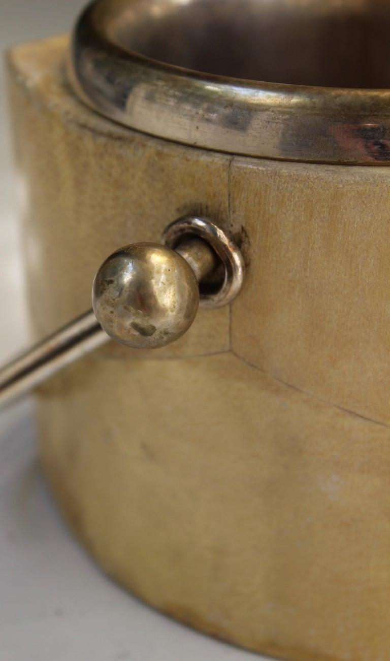 Aldo Tura Goatskin Veneered Thermos and Ice Bucket, Italy, circa 1960 For Sale 3