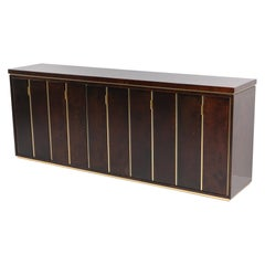Aldo Tura High End Credenza in Brass and Lacquered Parchment
