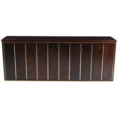Aldo Tura High End Credenza in Brass and Parchment