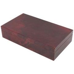 Aldo Tura Italy 1970s Red Goatskin Box
