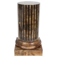 Aldo Tura, Italy, Goatskin Column Dry Bar
