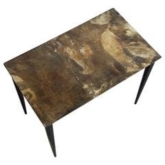 Aldo Tura Lacquered Goatskin Side Table, circa 1950s