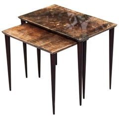 Aldo Tura Nesting Tables and Stacking Tables