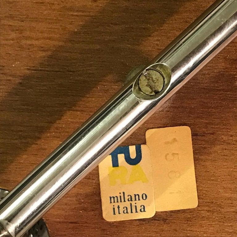 Aldo Tura Parchment Side Table on Chrome Legs For Sale 2
