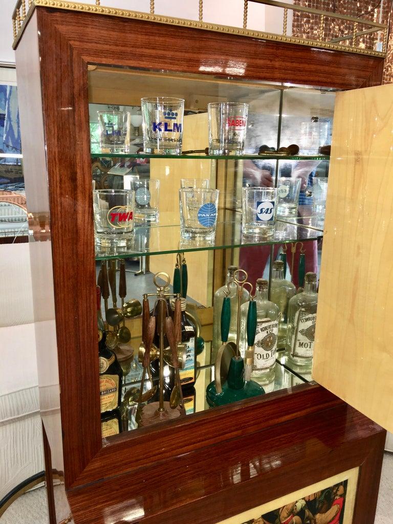 Aldo Tura Rolling Bar Cabinet For Sale 2