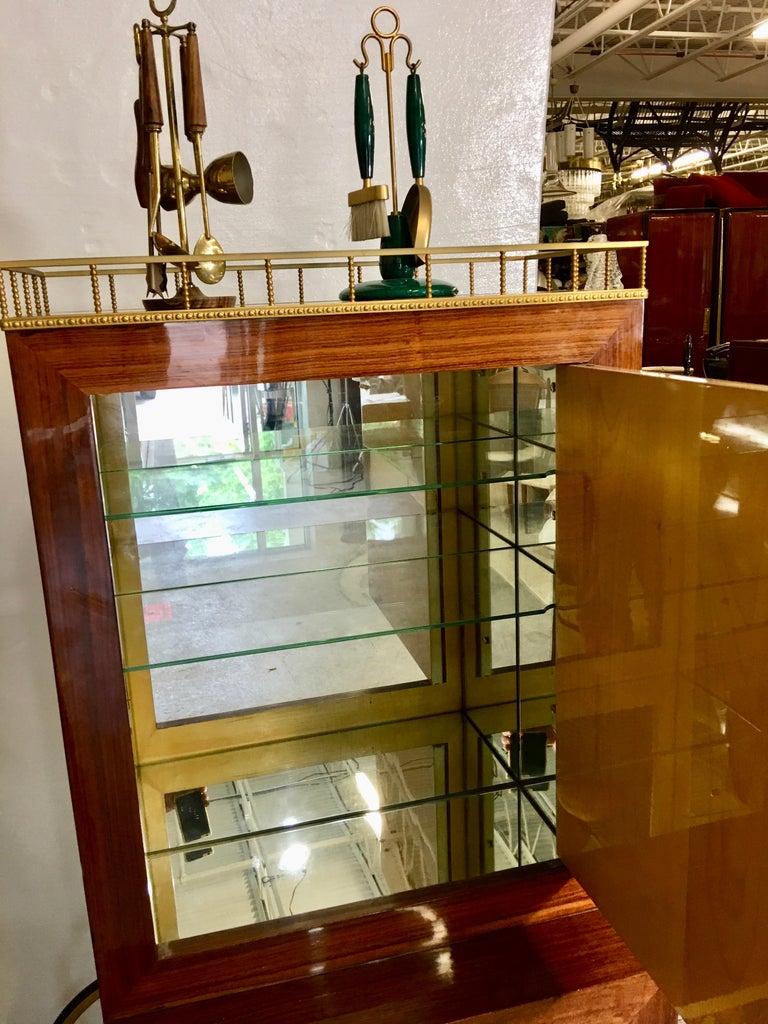 Aldo Tura Rolling Bar Cabinet For Sale 3