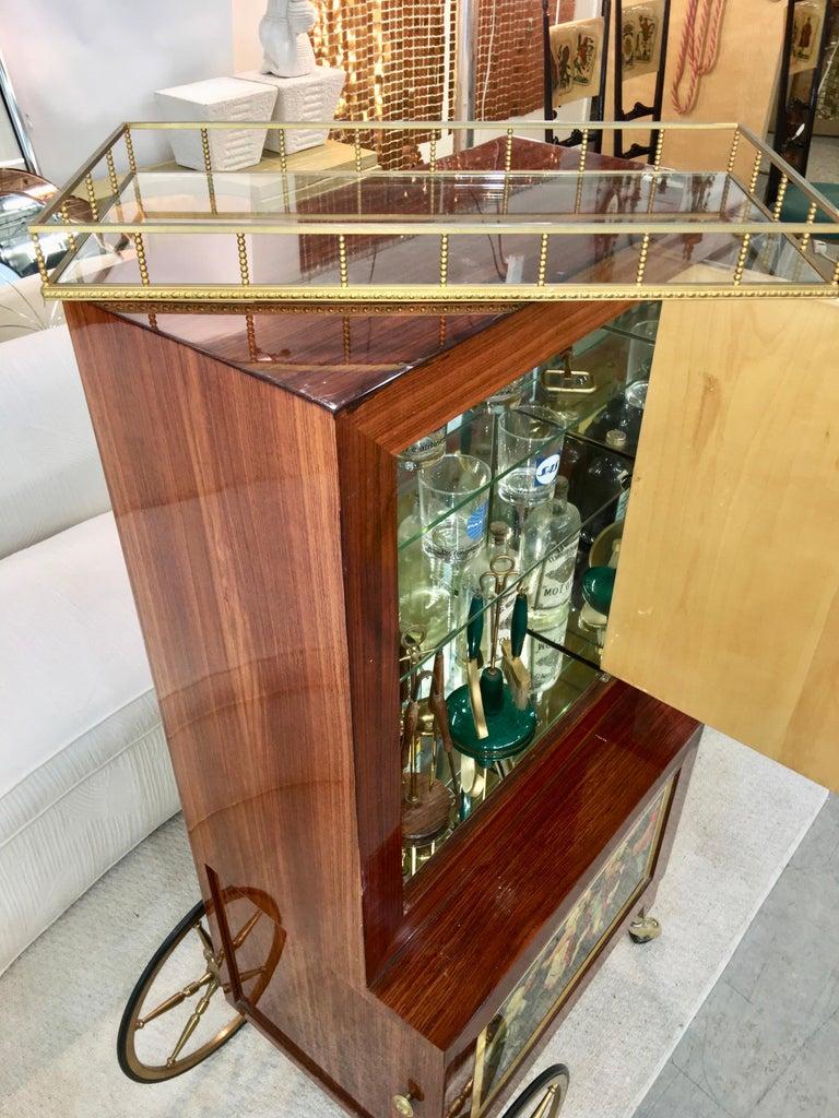 Aldo Tura Rolling Bar Cabinet For Sale 4