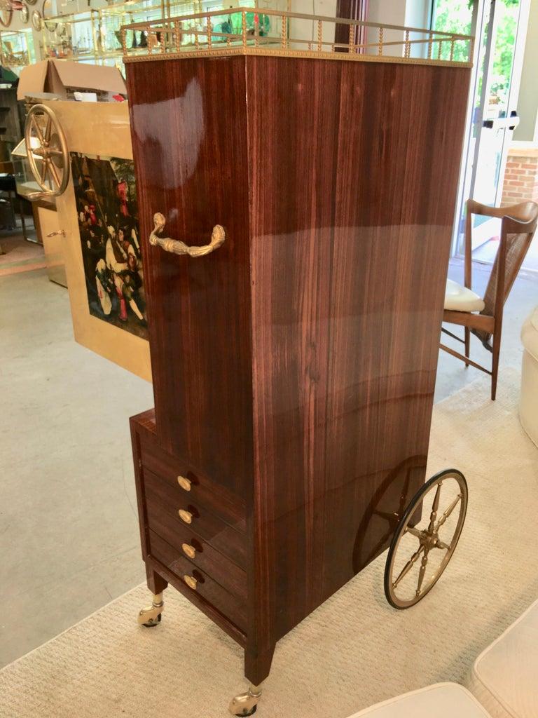 Aldo Tura Rolling Bar Cabinet For Sale 5
