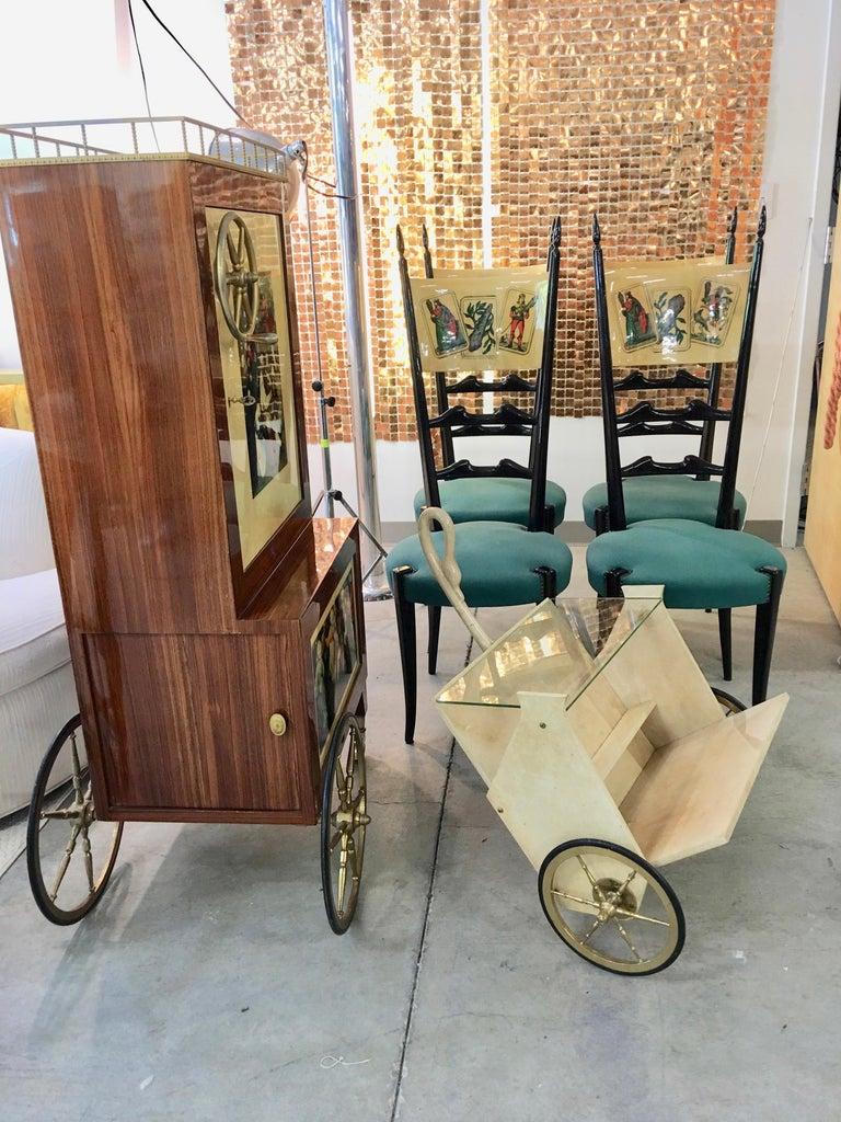 Aldo Tura Rolling Bar Cabinet For Sale 6