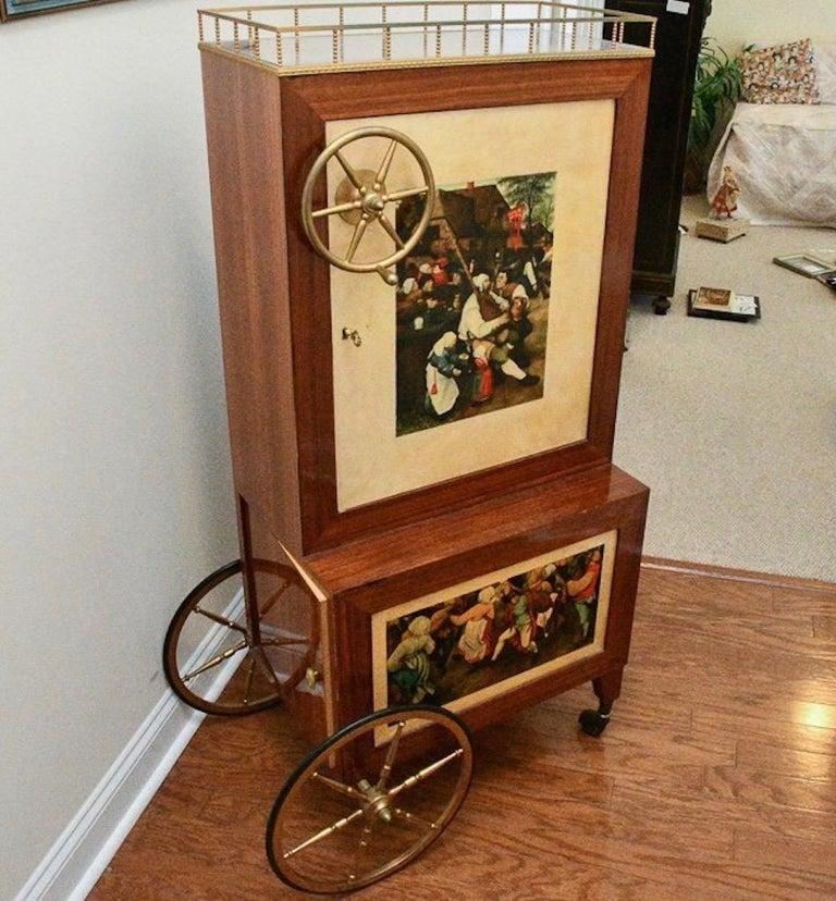 Aldo Tura Rolling Bar Cabinet For Sale 7