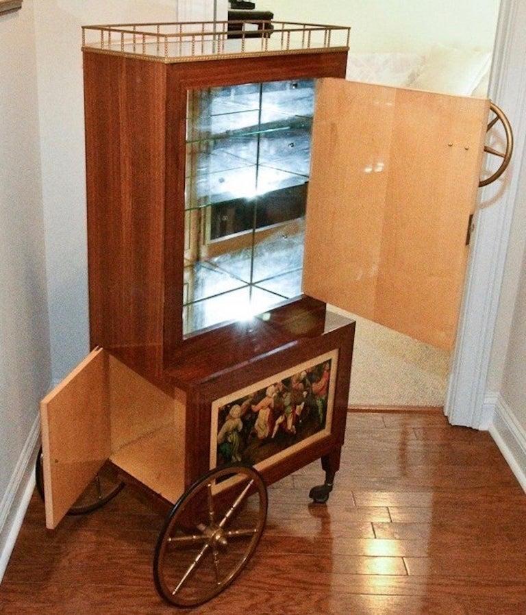 Aldo Tura Rolling Bar Cabinet For Sale 8