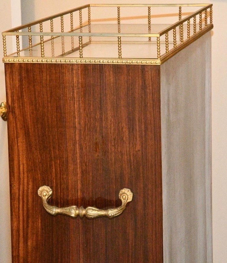 Aldo Tura Rolling Bar Cabinet For Sale 9