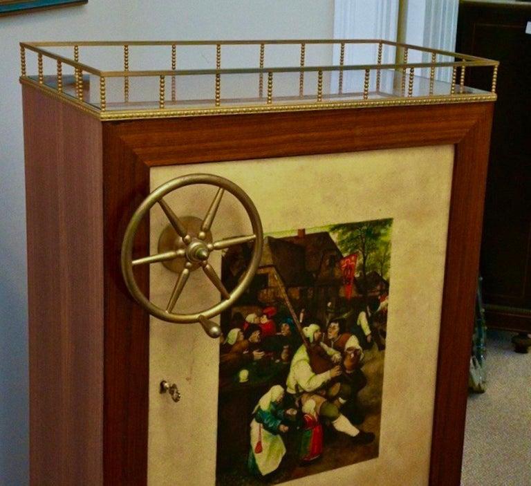 Aldo Tura Rolling Bar Cabinet For Sale 10