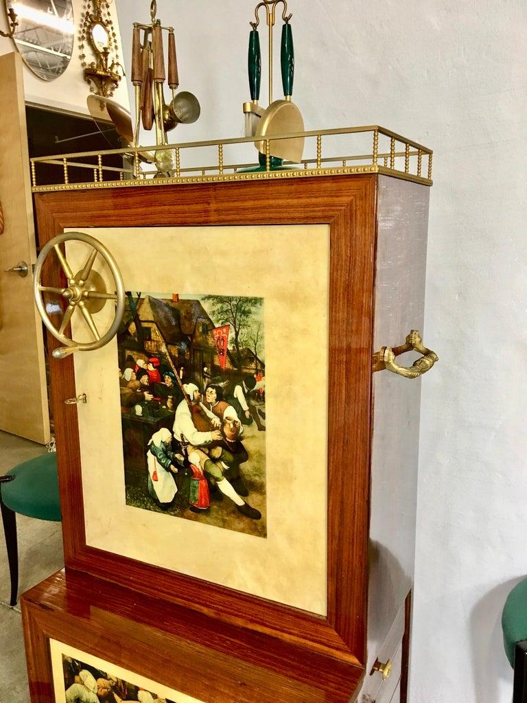 Aldo Tura Rolling Bar Cabinet For Sale 11
