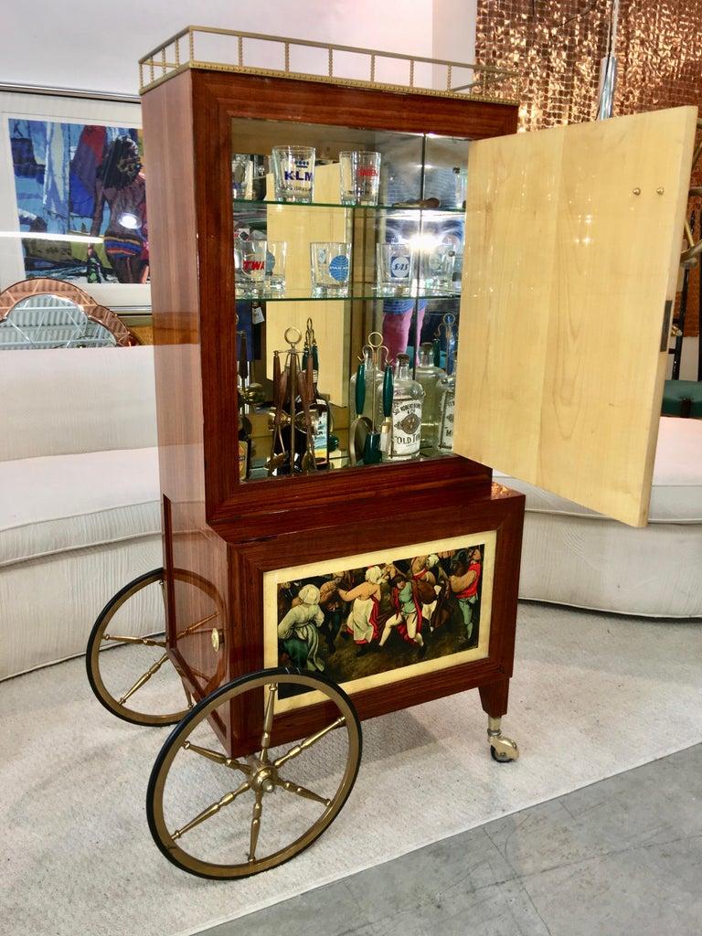 Aldo Tura Rolling Bar Cabinet For Sale 1