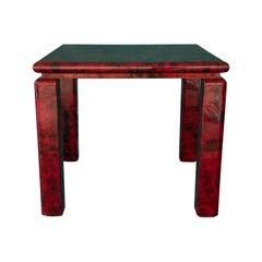 Aldo Tura Table Made of Goatskin
