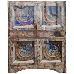 Aldo Tura Trompe L'Oeil Bar Cabinet, Italy, 1960