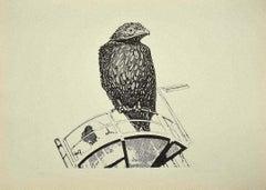 Bird - Original Etching by Aldo Turchiaro  - 1974