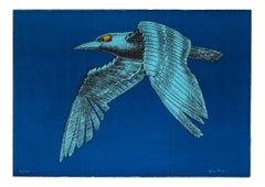 Bird - Original Lithograph on Paper by Aldo Turchiaro - 1980