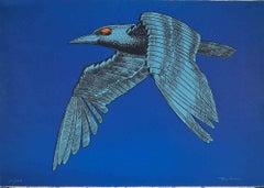The Mechanical Bird - Original Lithograph by Aldo Turchiaro - 1970s